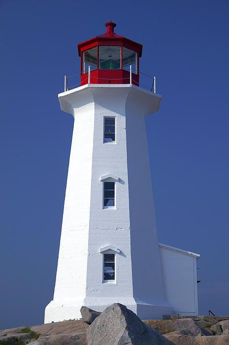 ~ Lighthouse Peggy's Cove, Nova Scotia, Canada (by Garry Gay) ~
