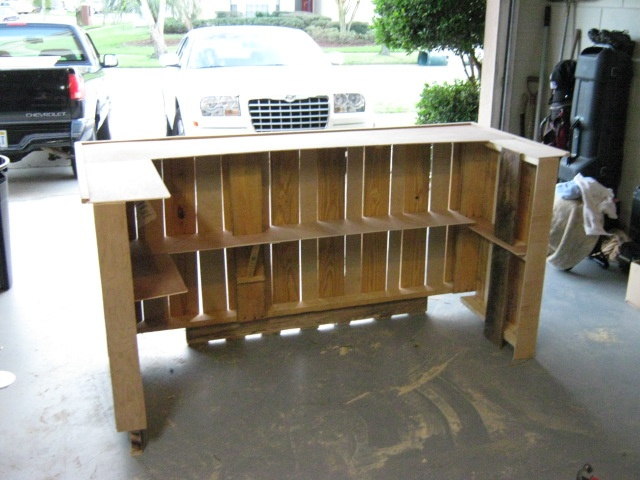 31 best pallet tiki bar project images on pinterest for How to make a tiki bar with pallets
