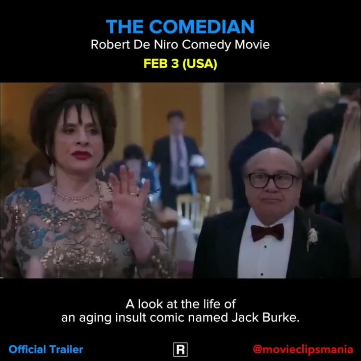 THE COMEDIAN A look at the life of an aging insult comic named Jack Burke. Director: Taylor Hackford Writers: Art Linson (screenplay), Jeffrey Ross (screenplay) (as Jeff Ross) Stars: Robert De Niro, Leslie Mann, Danny DeVito Reposted Via @movieclipsmania