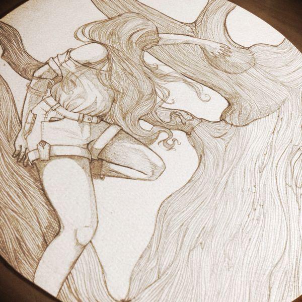 Hair to the Wind. by Danita Mendoza, via Behance