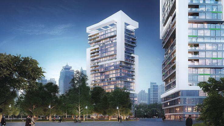 """Shanghai, China - air-lux.ch """"Schwarzwald-Wohnen""""-Hochhaus mit Luxuseigentumswohnungen. #architektur #architecture #fenster #windows"""