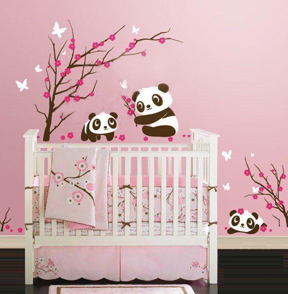 40 best panda drawings images on pinterest panda panda for Stickers panda chambre bebe