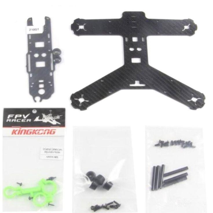 >> Click to Buy << 210GT KIT LITE Carbon Fiber Frame High Strength Mini Rack for KINGKONG RC Quadcopter Racing Drone Aircraft F19957 #Affiliate