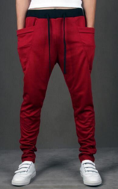 Harem Pants Men 2016 Unique Pocket Mens Joggers Cargo Men Panats Sweat pants Jogging Sport Pants Men Pantalones Hombre hot sale
