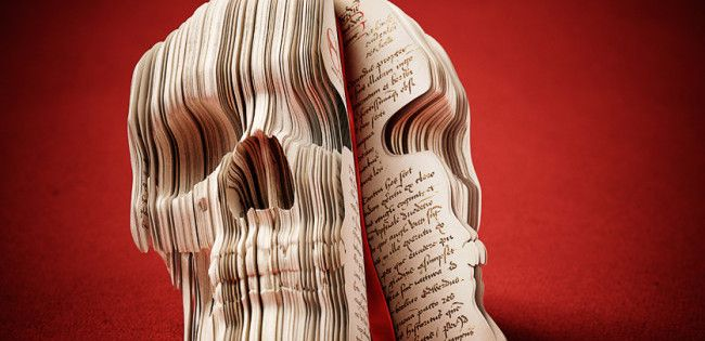 11 Creepy, Scary Book Art Pieces for Halloween