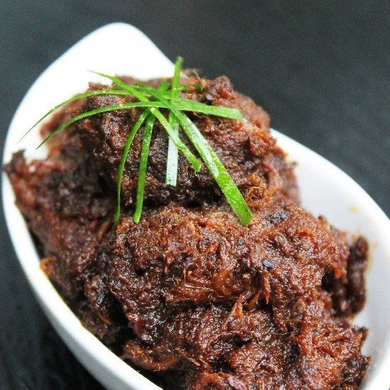 Indonesian Beef Rendang (Caramelized Beef Coconut Curry), No.1 of CNN World's 50 Most Delicious Foods list