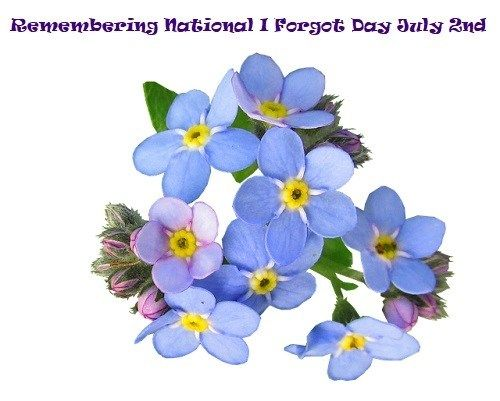 July 2nd is National I Forgot Day These forget me nots will help to remind you to remember National I Forgot Day. Brain Games : Tricks On How To Remember & Memorize Easily Video Zizhericles Channel O… http://ShopNPrizes.com/remembering-national-i-forgot-day