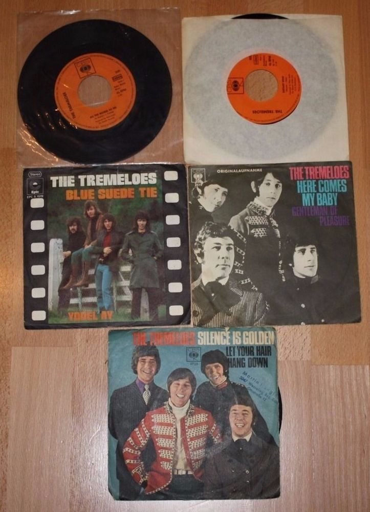 "5x THE TREMELOES Silence is golden - Here comes my baby -Blue suede tie 7"" Vinyl"