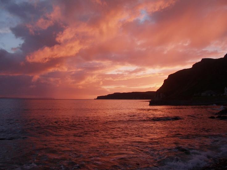 Sunset over Rathlin Island, Ireland