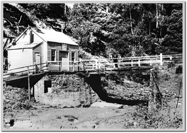 The Deep Creek Mineral Spring building many years ago at Eganstown, near Daylesford,Australia.