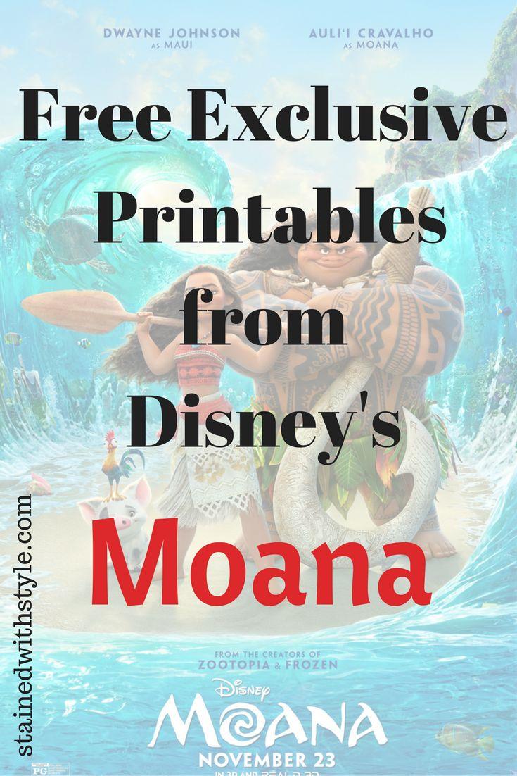 Free Printables from Disney's Moana