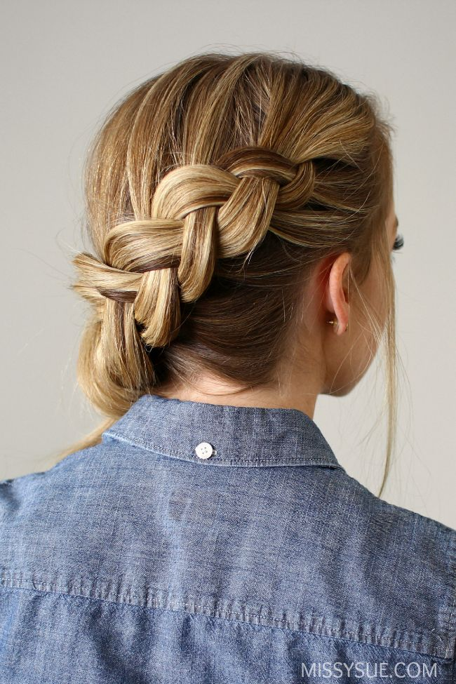 Side-swept Dutch Braid Ponytail #sideBraided