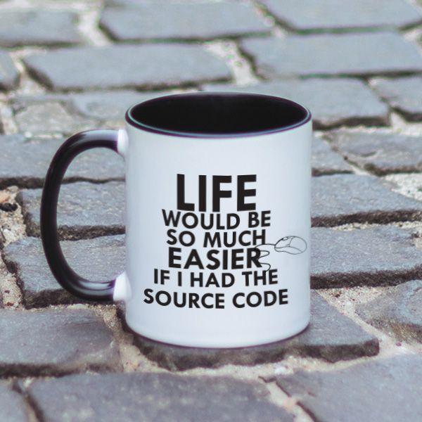 Viata programatorilor este cat se poate de interesanta cateodata. Insa lucrurile ar fi mai bune, daca acestia ar avea codul sursa al…vietii. Acest mesaj haios este perfect atunci cand nu stii ce cadou sa ii oferi cadou prietenului tau programator.