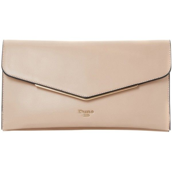 Dune Epeonnie Envelope Clutch Bag , Nude (1 515 UAH) ❤ liked on Polyvore featuring bags, handbags, clutches, nude, pink handbags, evening purses, special occasion clutches, faux-leather handbags and handbag purse