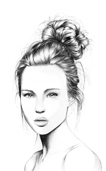 love the line work in her hair. Love all of her illustration
