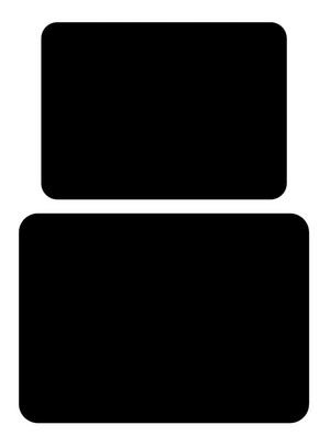 Tuftop Medium And Large Glass Chopping Boards Set In Black Colour