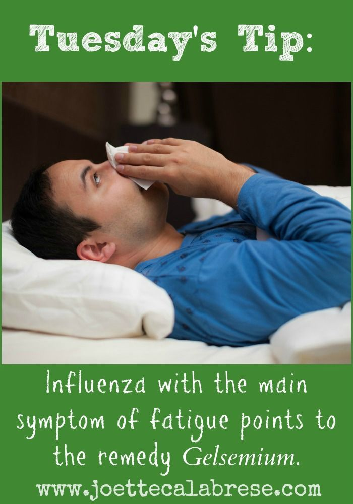 Tuesday's Tip: One of the most popular remedies for influenza, be sure to have this one in your homeopathic emergency kit.: