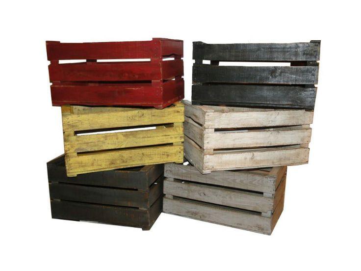 Caisse en bois - SEB11600 COULEUR
