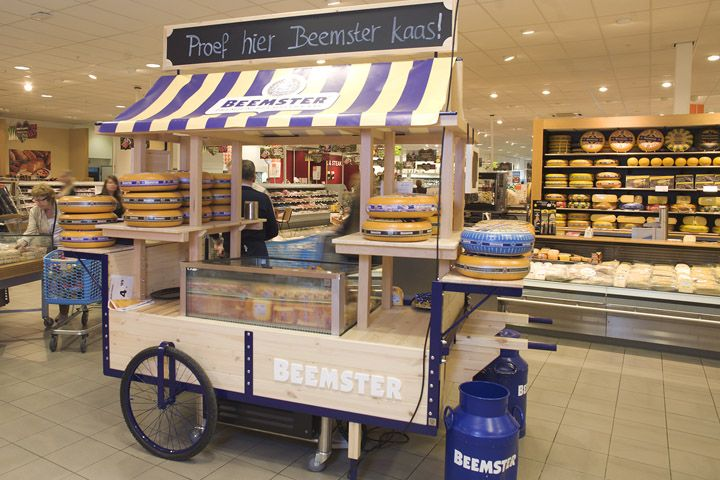 De Beemster trolley stand by Studiomfd, Netherlands