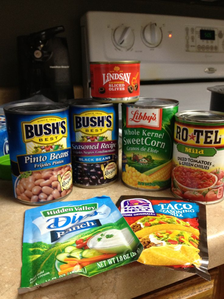 This is a favorite around my house & it's easy.  Taco Soup.... Brown ground beef, add a can of black beans, a can of Rotel, a can of pinto beans, a can of corn, a packet of taco seasoning, a packet of ranch & 2 cups of water. Don't drain any of the cans! Simmer 30 minutes. Serve with tortilla chips & garnish with shredded cheese, olives & sour cream.