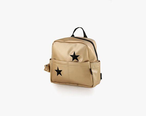 Toddler backpack Gold girl backpack Stars by starjellyTLV on Etsy