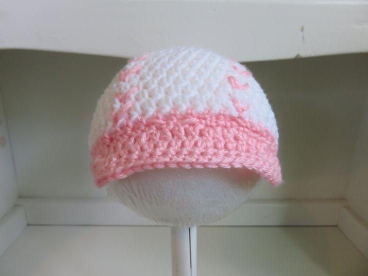 Crochet baseball hat, baby girl baseball hat, pink baseball cap, Made to order by LittleRabbitCrochet on Etsy
