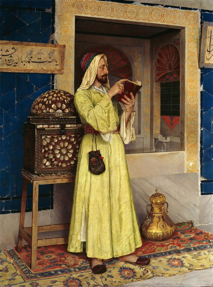 https://flic.kr/p/woHfgb   Osman Hamdi Bey - An Arab Reading   Osman Hamdi Bey (Constantinople, 1842 - Constantinople, February 24, 1910) was an Ottoman administrator, intellectual, art expert and also a prominent and pioneering painter. Throughout his professional career as museum and academy director, Osman Hamdi continued to paint in the style of his teachers, Gérôme and Boulanger.   [Alte und Neue Nationalgalerie, Berlin - Oil on canvas]