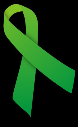 A mental illness ribbon for Mental Health Awareness Month