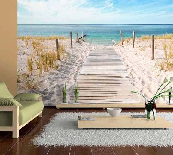 Fototapete, Fototapete Vlies. Deko-Motive der Fototapete: Landschaft, Meer, Strand, Urlaub am Meer.