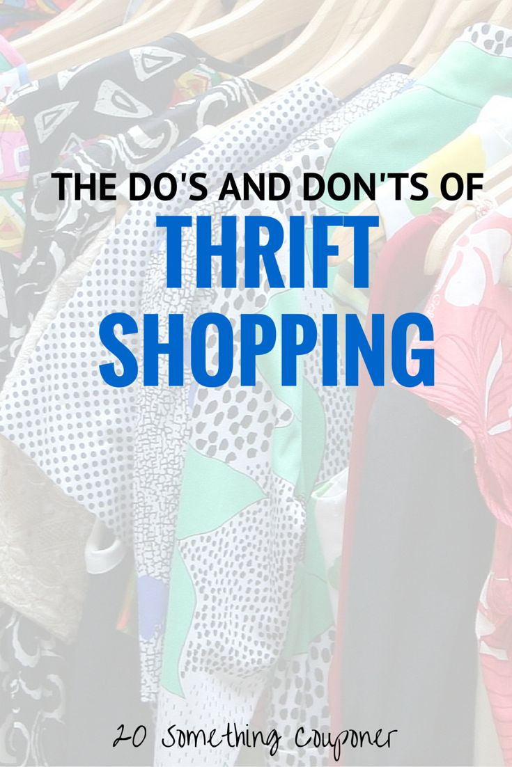 The Do's and Don'ts of Thrift Shopping - For all you clueless shoppers out there, I've written about some of the do's and don'ts of thrift shopping.