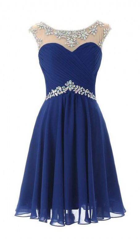 Royal Blue Homecoming Dresses, Knee Length Homecoming Dresses, 2016 Prom Dresses Bridesmaid Dresses