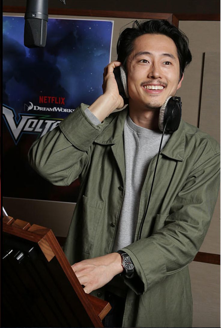 Steven Yeun doing voice recording as Keith from Voltron Legendary Defender