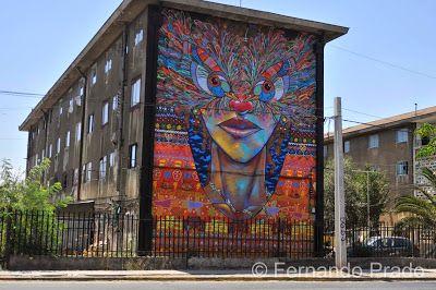 Fotografías de Fernando Prado: Murales en Av. Departamental, comuna de San Miguel...
