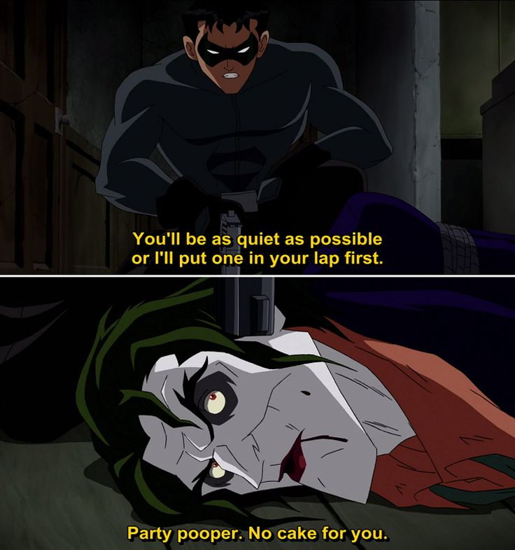 Quotes from Batman Under the Red Hood (2010) Movie I loved this one! Ooh and Jensen Ackles does the voice of the Red Hood yup