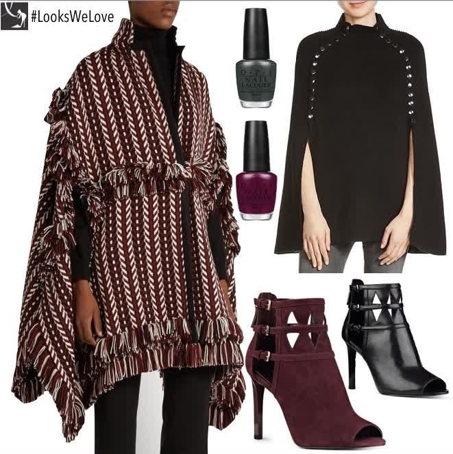Fall #LooksWeLove: Sweater Capes & Peep toe booties #Fashion http://qoo.ly/bt5rd