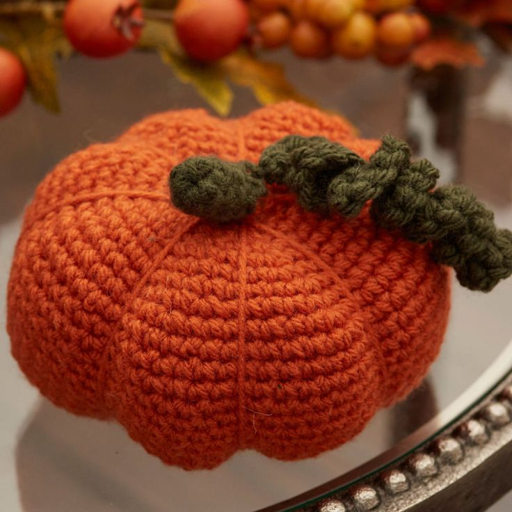 Make a Crochet Pumpkin or two for fall decor