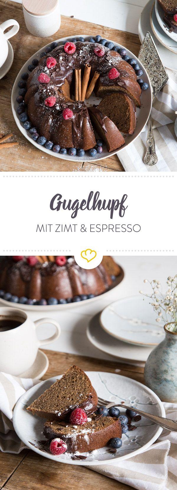 Ein Gugelhupf für extra Gemütlichkeit: Zimt und Espresso umschmeicheln deinen Gaumen und deine Seele und die Wohnung duftet himmlisch.
