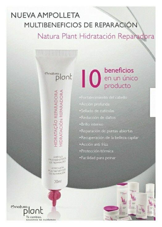 Ampolletas hidratación reparadora Natura Plant  cliquem aqui ou copie e cole em seu navegador  http://rede.natura.net/espaco/jairo