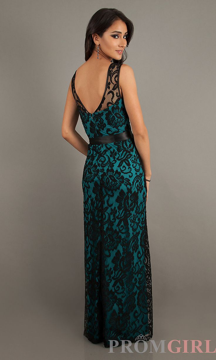 img46.imagetwist.com@ Prom Dresses, Celebrity Dresses, Sexy Evening Gowns at PromGirl: Floor  Length Sleeveless Lace