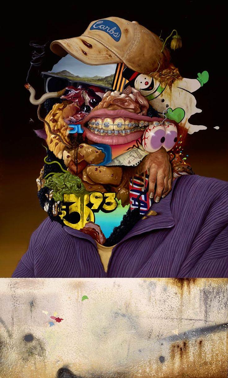 Lunch Break – Les peintures de Sean Norvet Une sélection des peintures surréalistes de l'artiste américain Sean Norvet, basé à Los Angeles. Des créations bourrées de références, nées de l'étrange rencontre entre la pop culture et la junk food.
