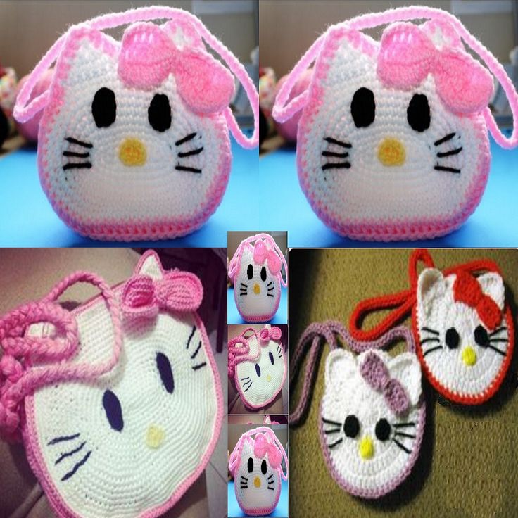 How To Crochet Hello Kitty Bag By Marifu6a Free Pattern Tutorial : 17 Best images about Krista - Bags on Pinterest Purse ...