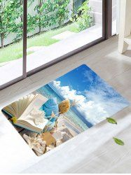 Skidproof Beach Style Book Starfish Area Rug - COLORFUL