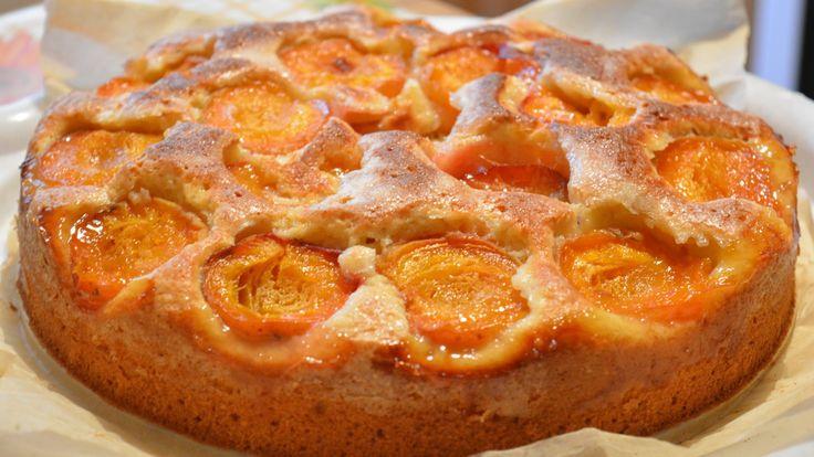 Пирог с абрикосами | Простой и вкусный