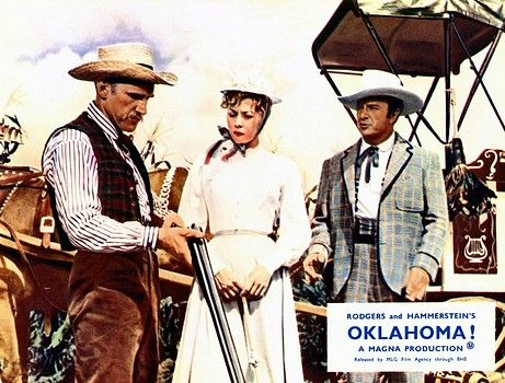 Oklahoma movie. Andrew Carnes, Ado Annie and Ali Hakim.