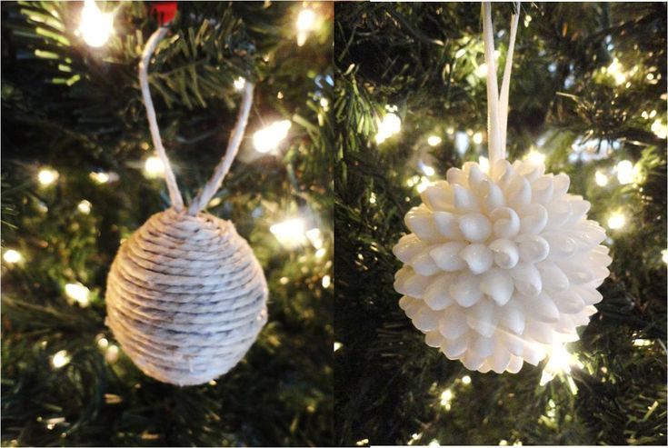 Handmade Christmas Ornaments. Could use glitter paint on pistacio shells in place of the shells