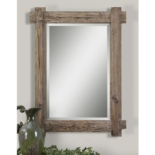 Lowest price online on all Uttermost Claudio Mirror in Light Walnut Stained  Wood - 07635