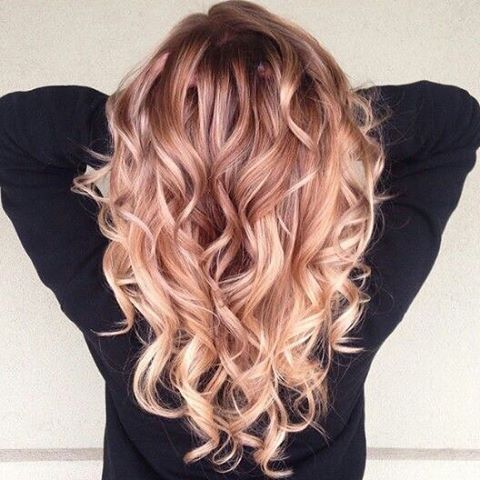 Image result for brown rose blonde balayage