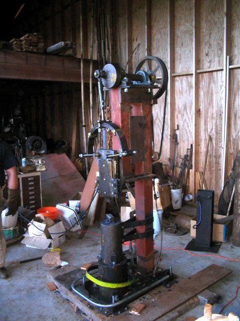 Homemade power hammer: