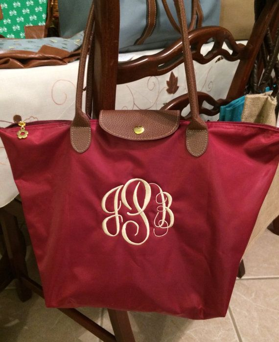 Monogram Scallop Tote Bag Scalloped Tote And Wallet