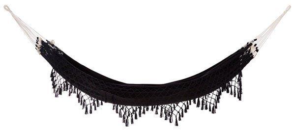 Hangmat zwart katoen van het merk Madam Stoltz shop je online bij DEENS.NL, jouw online woonwarenhuis. ✓ Snelle levering ✓ persoonlijke service